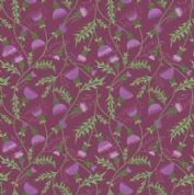 Lewis & Irene - Celtic Coorie - 6777 - Floral, All Over Thistle on Purple - A415.2 - Cotton Fabric